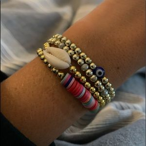 Jewelry - stack of bracelets